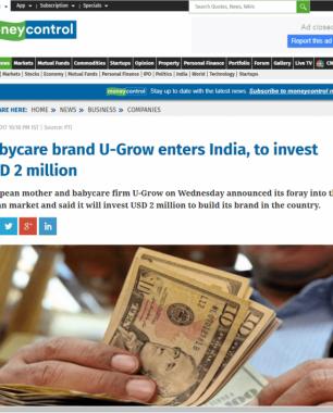 U-grow Featured in Money Control