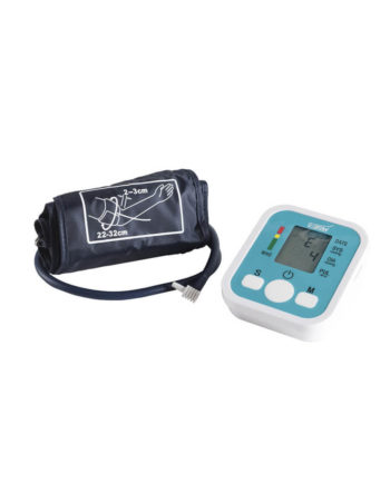 Electronic arm blood pressure monitor, USB-charged