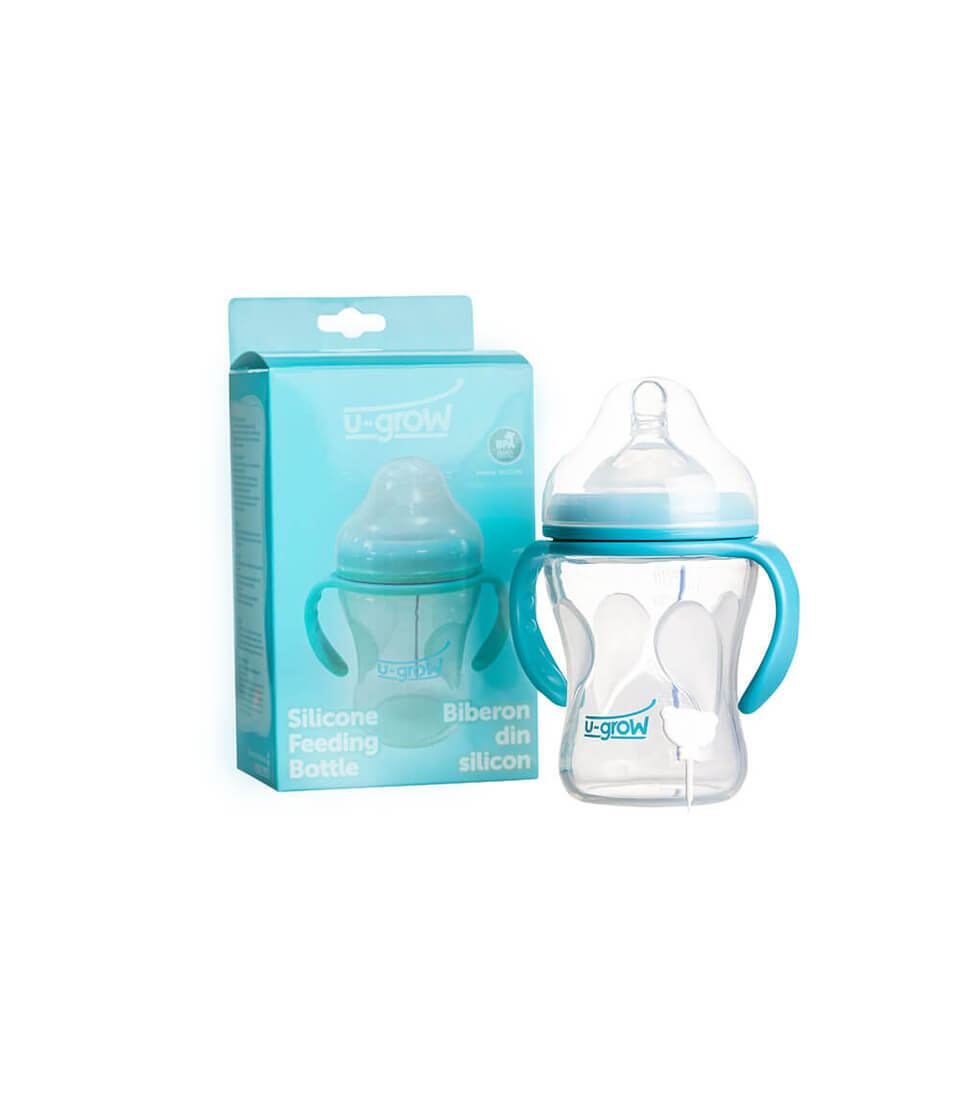 Silicone baby bottles with temperature sensor A-1107