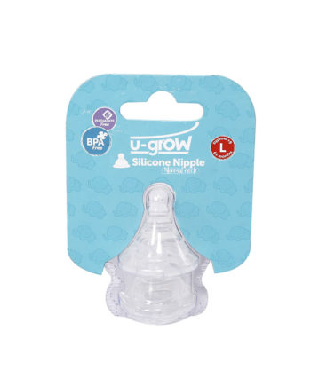 2 standard neck silicone nipple set large
