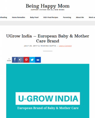 U-grow Featured in Being Happy Mom