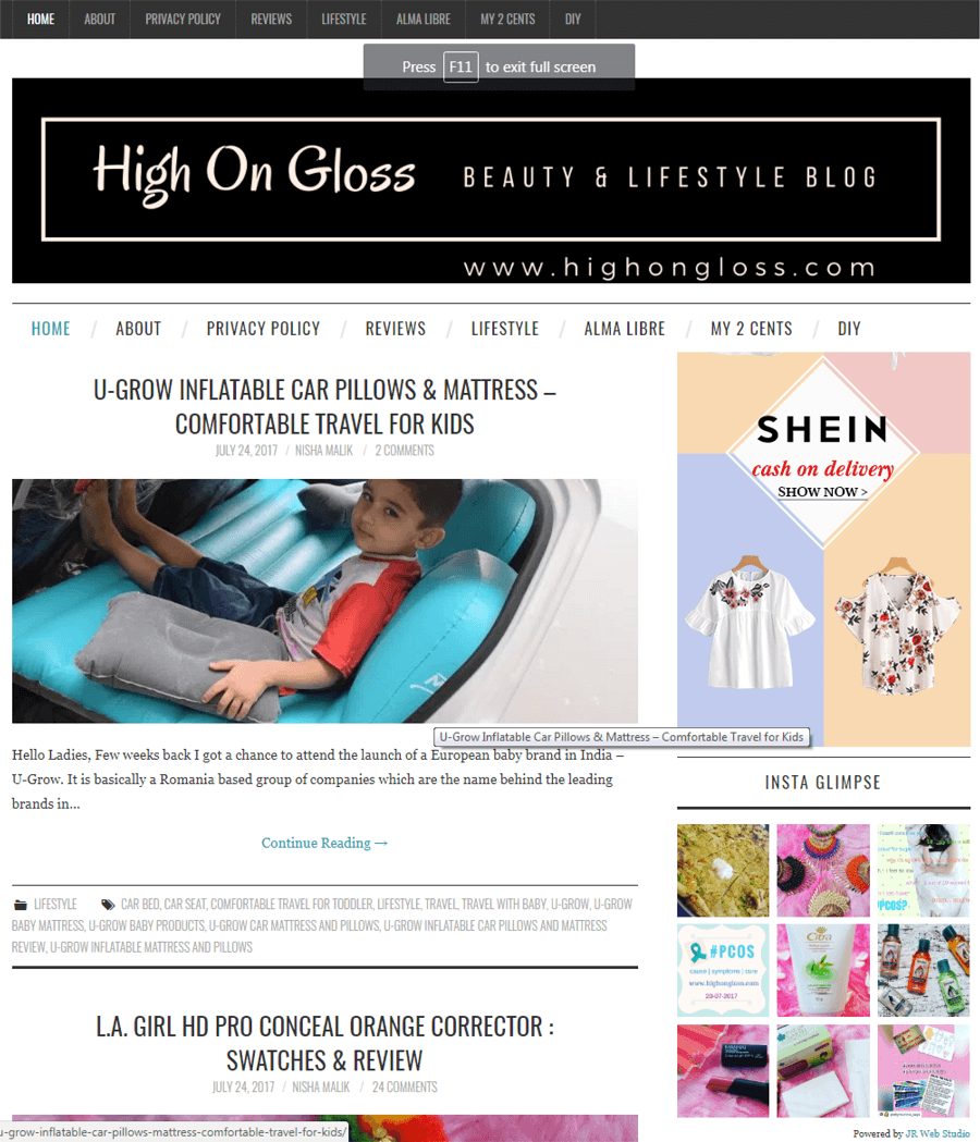 U-grow Featured in High On Gloss